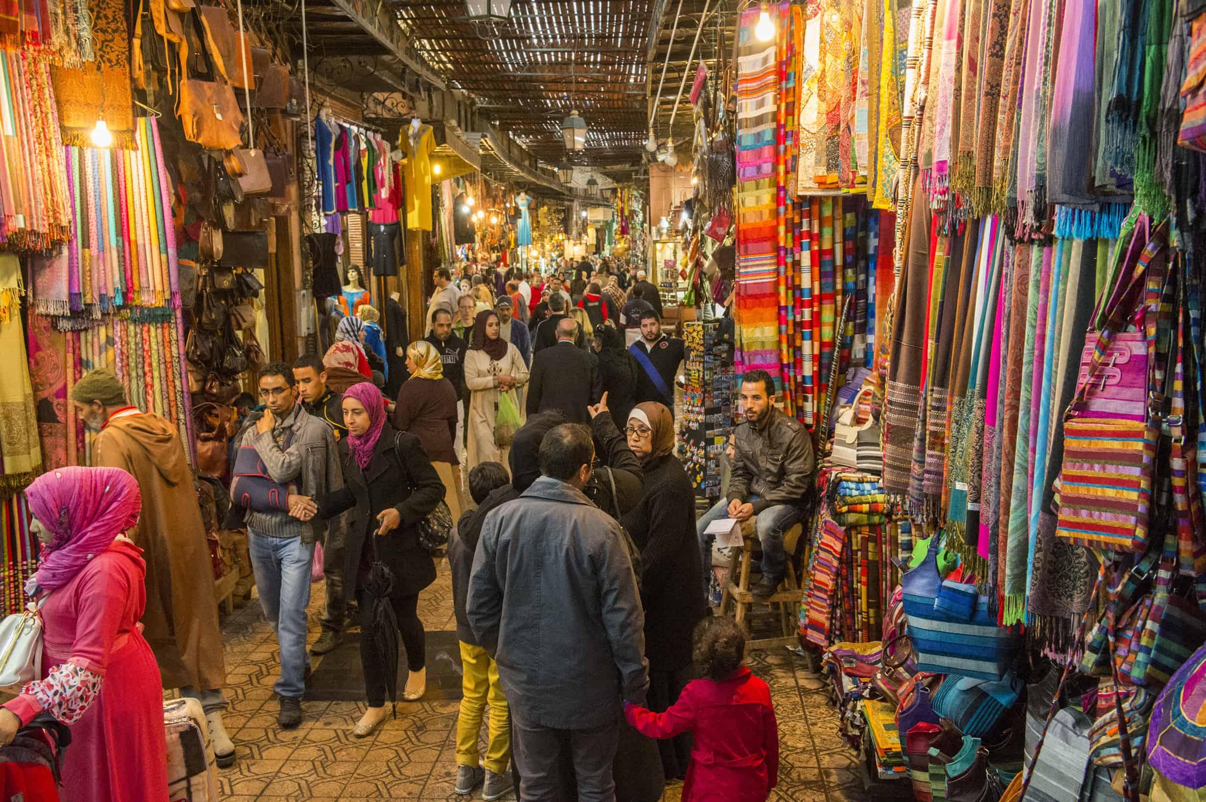 The main bazaar in Marrakech