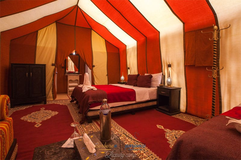 Luxury desert tour tent